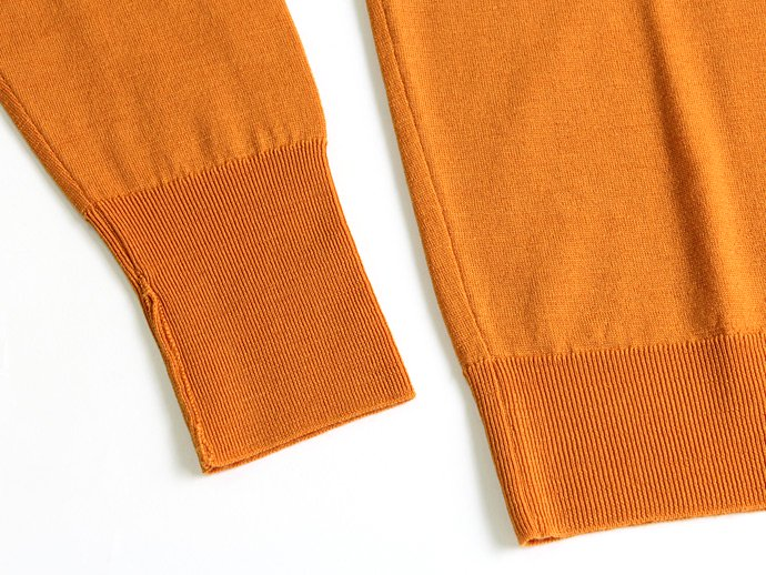 Other Brands JOHN SMEDLEY / BOWER Vネックセーター - Butternut Squash 02