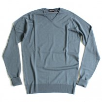 Other Brands JOHN SMEDLEY / BOWER Vネックセーター - Blue Roan