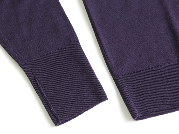 Other Brands JOHN SMEDLEY / MARCUS クルーネックセーター - Concord Grape 02