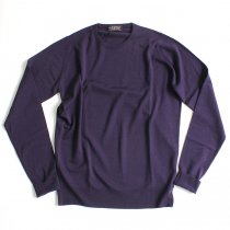 Other Brands JOHN SMEDLEY / MARCUS クルーネックセーター - Concord Grape