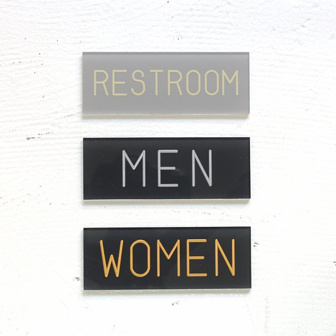 71306148 BOLTS HARDWARE STORE / サインプレート TYPE 2 - RESTROOM/MEN/WOMEN 01