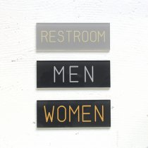 BOLTS HARDWARE STORE / サインプレート TYPE 2 - RESTROOM/MEN/WOMEN
