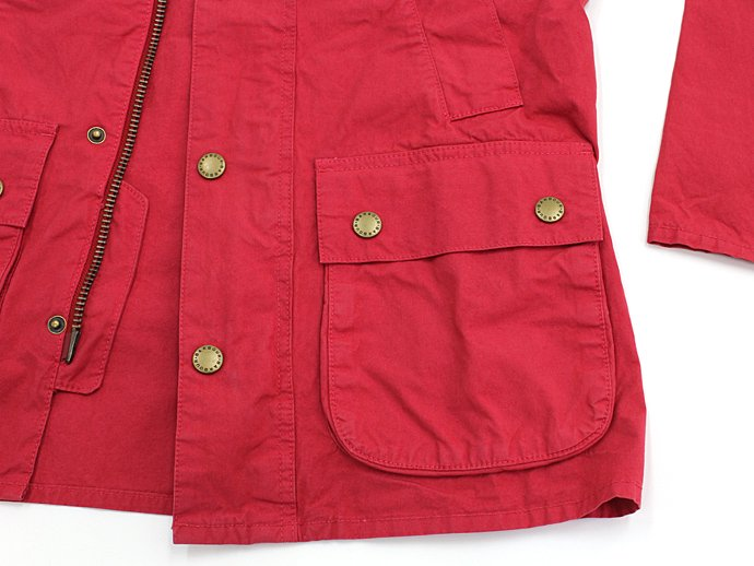 Barbour BEDALE SL Overdyed - Red ビデイルSL オーバーダイド レッド 02