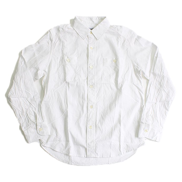 TAURUS Royal Oxford Workingman's Shirts ロイヤルオックス ワークシャツ - White<img class='new_mark_img2' src='//img.shop-pro.jp/img/new/icons20.gif' style='border:none;display:inline;margin:0px;padding:0px;width:auto;' /> 01