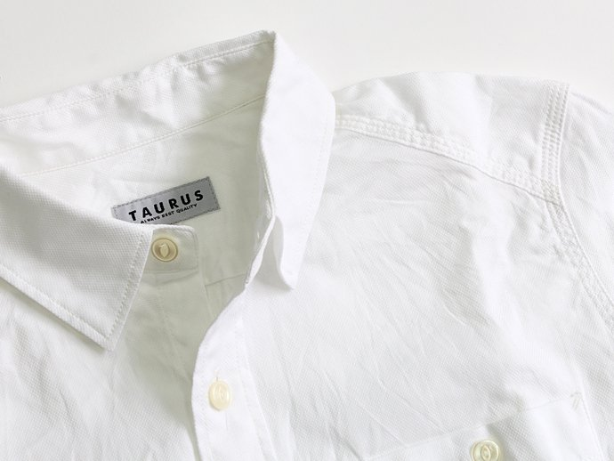 TAURUS Royal Oxford Workingman's Shirts ロイヤルオックス ワークシャツ - White 02