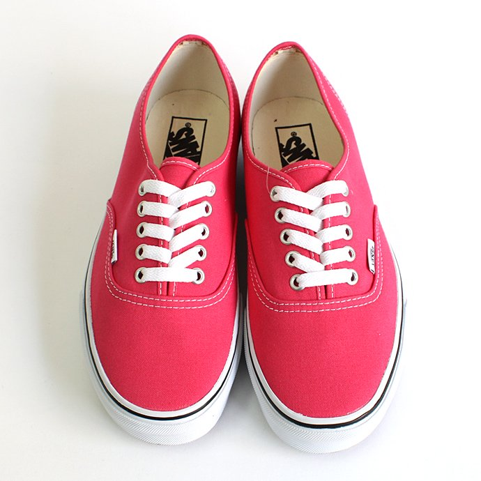 VANS Canvas Authentic - Rouge Red/True White キャンバスオーセンティック 01