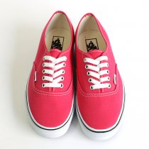 VANS Canvas Authentic - Rouge Red/True White キャンバスオーセンティック
