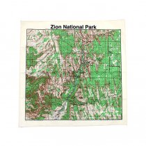 Other Brands The Printed Image / Nature Facts Bandanas - Zion National Park ブリンテッドイメージ/ネイチャープリントバンダナ