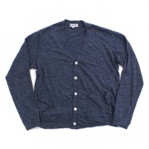 TAURUS / Linen Jersey Cardigan リネン天竺カーディガン - Navy<img class='new_mark_img2' src='//img.shop-pro.jp/img/new/icons20.gif' style='border:none;display:inline;margin:0px;padding:0px;width:auto;' />