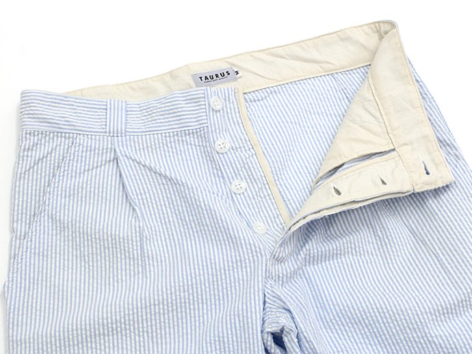 73310030 TAURUS / Seersucker EU Work Trousers シアサッカー ワークパンツ - Blue 02