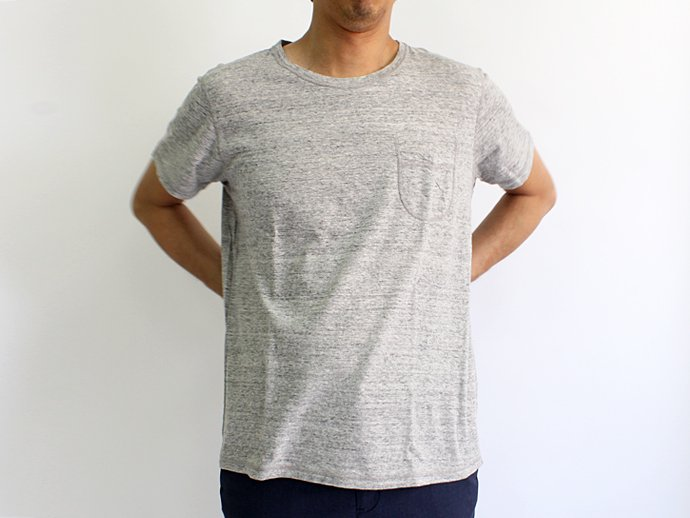 73397050 TAURUS / Flat Seamed Pocket Tee ポケットTシャツ - Heather Grey 02