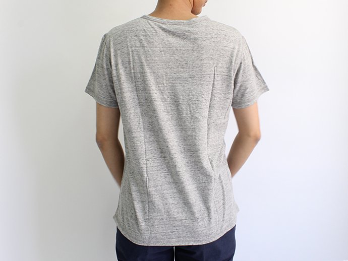 TAURUS Flat Seamed Pocket Tee ポケットTシャツ - Heather Grey 02
