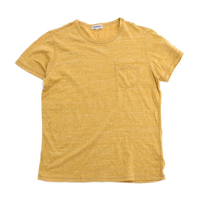 73397100 TAURUS / Flat Seamed Pocket Tee ポケットTシャツ - Heather Yellow<img class='new_mark_img2' src='//img.shop-pro.jp/img/new/icons47.gif' style='border:none;display:inline;margin:0px;padding:0px;width:auto;' /> 01
