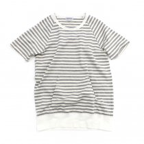TAURUS / S/S Crewneck Stripe Tee ボーダーポケットTシャツ - Grey/White<img class='new_mark_img2' src='//img.shop-pro.jp/img/new/icons20.gif' style='border:none;display:inline;margin:0px;padding:0px;width:auto;' />