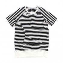 TAURUS / S/S Crewneck Stripe Tee ボーダーポケットTシャツ - Navy/White<img class='new_mark_img2' src='//img.shop-pro.jp/img/new/icons20.gif' style='border:none;display:inline;margin:0px;padding:0px;width:auto;' />