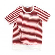 TAURUS / S/S Crewneck Stripe Tee ボーダーポケットTシャツ - Red/White<img class='new_mark_img2' src='//img.shop-pro.jp/img/new/icons20.gif' style='border:none;display:inline;margin:0px;padding:0px;width:auto;' />