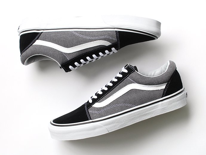 VANS Suede & Chambray Old Skool - Black<img class='new_mark_img2' src='//img.shop-pro.jp/img/new/icons47.gif' style='border:none;display:inline;margin:0px;padding:0px;width:auto;' /> 02