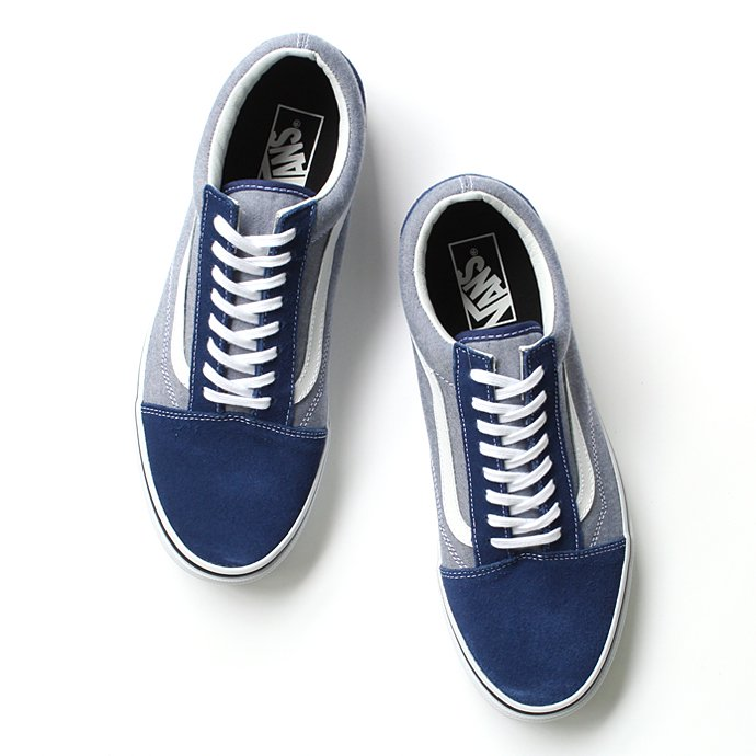 VANS Suede & Chambray Old Skool - Estate Blue<img class='new_mark_img2' src='//img.shop-pro.jp/img/new/icons47.gif' style='border:none;display:inline;margin:0px;padding:0px;width:auto;' /> 01