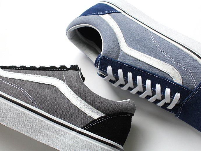 VANS Suede & Chambray Old Skool - Estate Blue<img class='new_mark_img2' src='//img.shop-pro.jp/img/new/icons47.gif' style='border:none;display:inline;margin:0px;padding:0px;width:auto;' /> 02