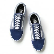 VANS Suede & Chambray Old Skool - Estate Blue<img class='new_mark_img2' src='//img.shop-pro.jp/img/new/icons47.gif' style='border:none;display:inline;margin:0px;padding:0px;width:auto;' />