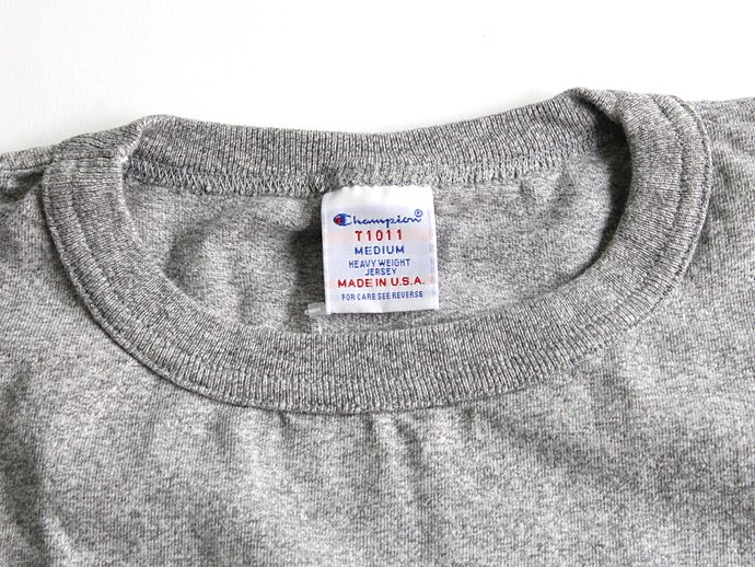 Champion Champion / T1011 ポケットTシャツ Made in USA - Oxford Grey<img class='new_mark_img2' src='//img.shop-pro.jp/img/new/icons47.gif' style='border:none;display:inline;margin:0px;padding:0px;width:auto;' /> 02
