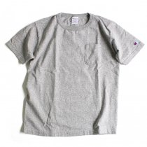 Champion / T1011 ポケットTシャツ Made in USA - Oxford Grey
