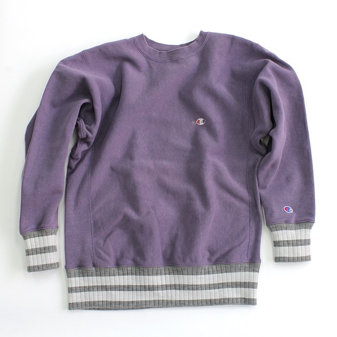 Hexico Deformer Sweat Border Rib ex. Reverse Weave - Purple<img class='new_mark_img2' src='//img.shop-pro.jp/img/new/icons47.gif' style='border:none;display:inline;margin:0px;padding:0px;width:auto;' /> 01