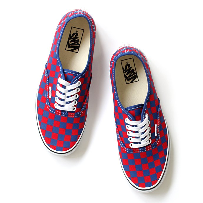 76566430 VANS / Golden Coast Authentic - Blue/Red Checker ゴールデンコースト オーセンティック チェッカー<img class='new_mark_img2' src='//img.shop-pro.jp/img/new/icons47.gif' style='border:none;display:inline;margin:0px;padding:0px;width:auto;' /> 01