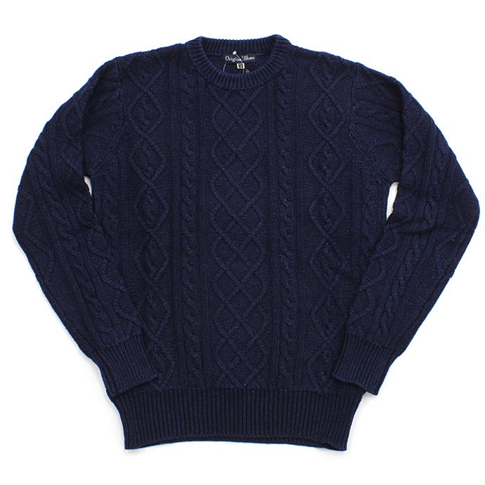 Original Blues / Indigo Aran Crew  - Navy<img class='new_mark_img2' src='//img.shop-pro.jp/img/new/icons47.gif' style='border:none;display:inline;margin:0px;padding:0px;width:auto;' />
