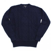 Original Blues Original Blues / Indigo Aran Crew  - Navy<img class='new_mark_img2' src='//img.shop-pro.jp/img/new/icons47.gif' style='border:none;display:inline;margin:0px;padding:0px;width:auto;' />
