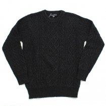 Original Blues / Indigo Aran Crew  - Black
