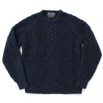 H. ROBINSON KNITTING / Hand Knitted Spine Cable P/O - Royal Navy