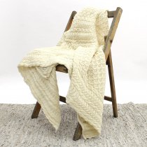Aran Crafts / Honeycomb Wool Throw ハニカムウールブランケット<img class='new_mark_img2' src='//img.shop-pro.jp/img/new/icons47.gif' style='border:none;display:inline;margin:0px;padding:0px;width:auto;' />