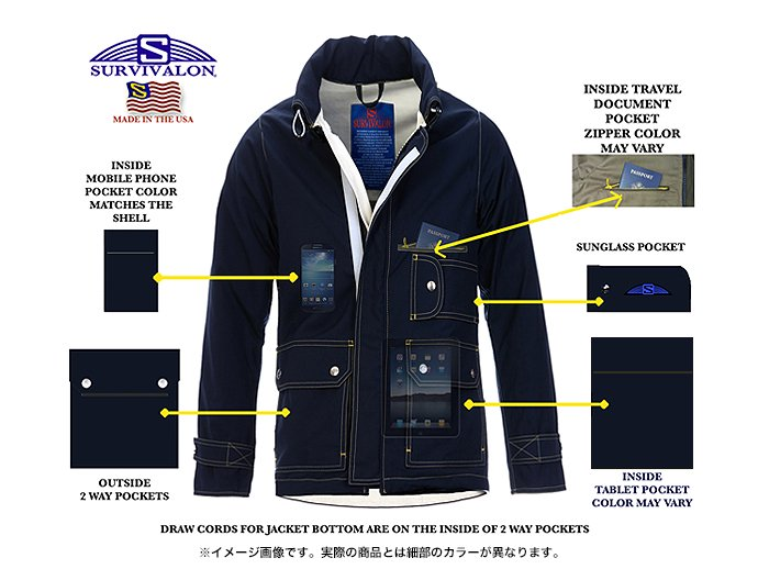 Other Brands SURVIVALON(サバイバロン) / Original Modern fit Lined Jacket - Navy 02