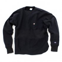 Hexico / Deformer Sweat - One Border Round Hem Ex. US Reverse Weave - Navy