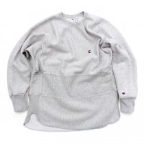 Hexico Deformer Sweat - One Border Round Hem Ex. US Reverse Weave - Grey