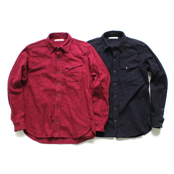 Hexico Flannel Western Shirts フランネル ウエスタンシャツ - Over Dye Wash(全2色) 01