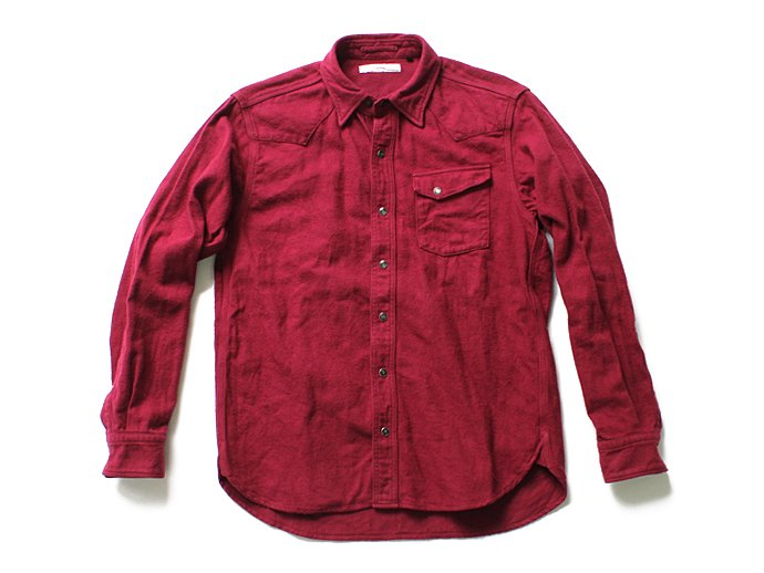 Hexico Flannel Western Shirts フランネル ウエスタンシャツ - Over Dye Wash(全2色) 02