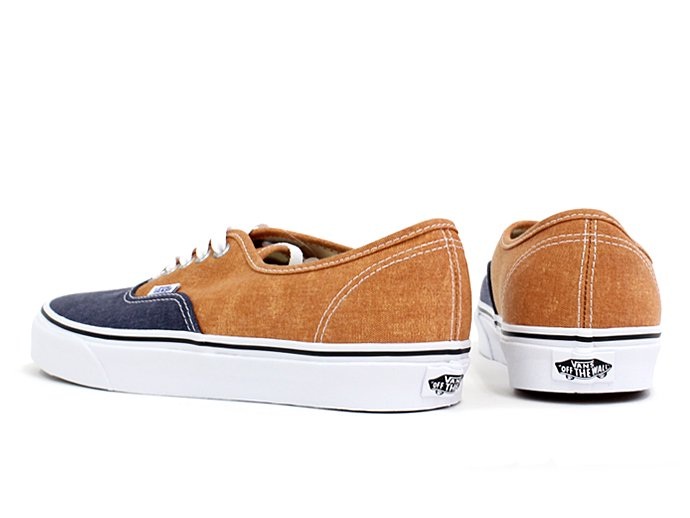 VANS Washed 2 Tone Authentic(ウォッシュド 2トーン オーセンティック)-  Peacoat/Golden Ochre<img class='new_mark_img2' src='//img.shop-pro.jp/img/new/icons47.gif' style='border:none;display:inline;margin:0px;padding:0px;width:auto;' /> 02