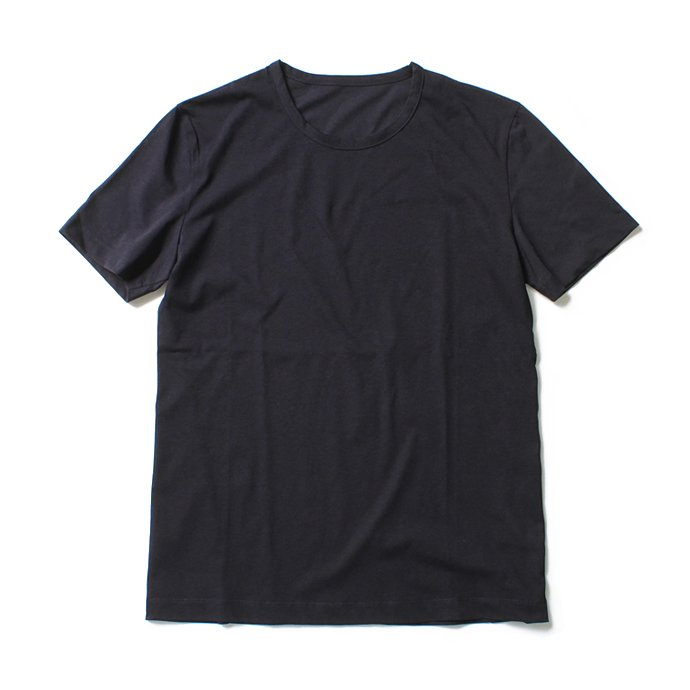 smoothday(スムースデイ) 40/1 テクノラマ弱シルケット天竺 クルーネックTシャツ - ネイビー<img class='new_mark_img2' src='//img.shop-pro.jp/img/new/icons47.gif' style='border:none;display:inline;margin:0px;padding:0px;width:auto;' /> 01