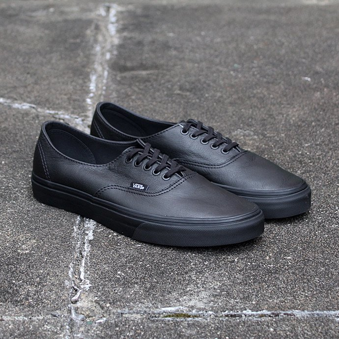 91727772 VANS / Premium Leather Authentic Decon - Black/Black 01