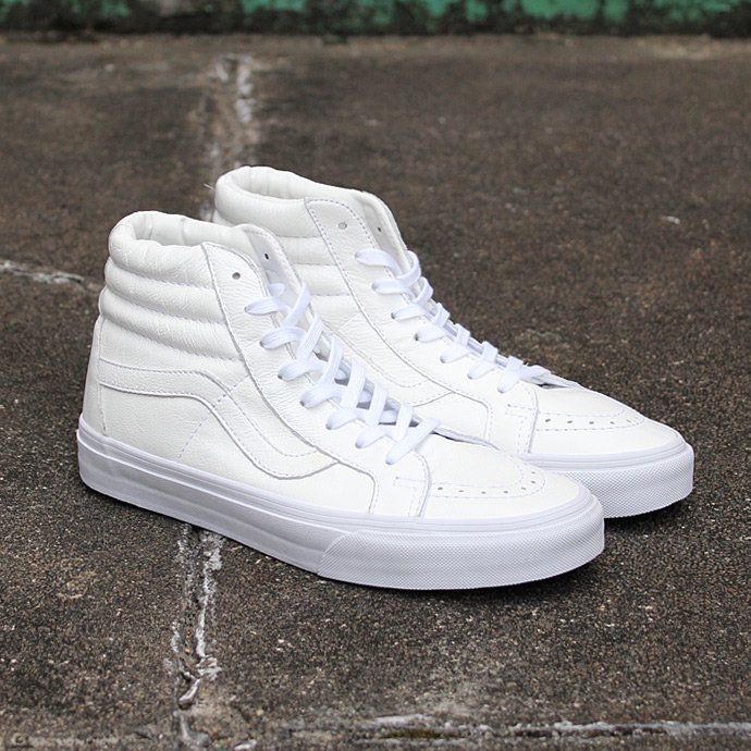 VANS Premium Leather SK8-Hi Reissue - True White