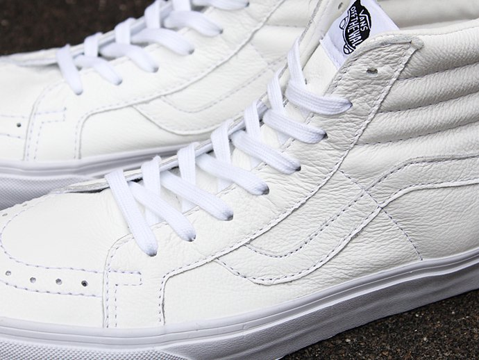 VANS Premium Leather SK8-Hi Reissue - True White 02