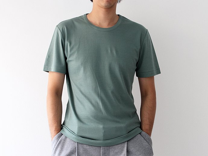 92390178 smoothday / 100/1 ディオラマスムース クルーネックTシャツ - グリーン 1507T008-040 #2<img class='new_mark_img2' src='//img.shop-pro.jp/img/new/icons47.gif' style='border:none;display:inline;margin:0px;padding:0px;width:auto;' /> 02