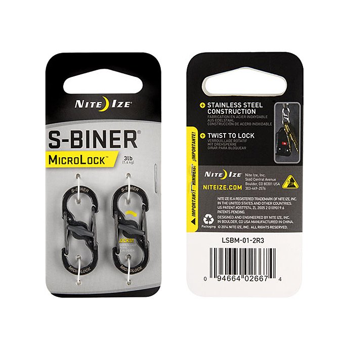 Other Brands NITE-IZE / S-Biner MicroLock(Sバイナー・マイクロロック)2個セット - 全2色 01