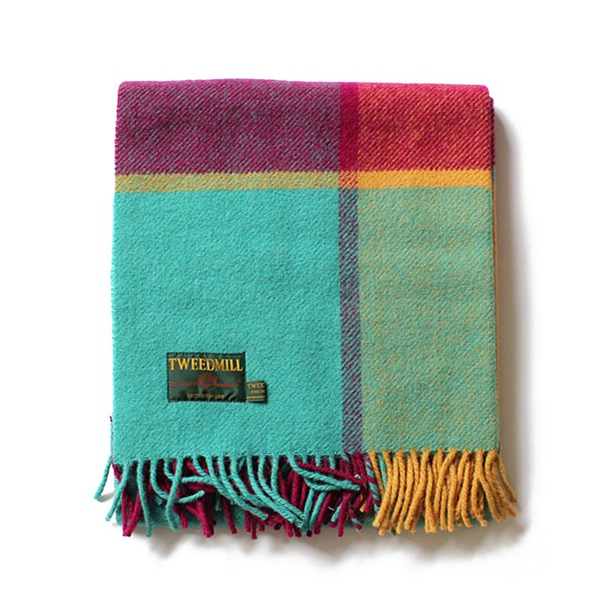 TWEEDMILL TWEEDMILL / ウール ブロックチェックブランケット - ジェイド<img class='new_mark_img2' src='//img.shop-pro.jp/img/new/icons47.gif' style='border:none;display:inline;margin:0px;padding:0px;width:auto;' /> 01