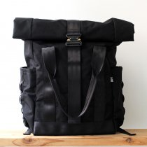 DEFY / VerBockel Rolltop Backpack - Black Cordura ロールトップバックパック コーデュラナイロン ブラック<img class='new_mark_img2' src='//img.shop-pro.jp/img/new/icons47.gif' style='border:none;display:inline;margin:0px;padding:0px;width:auto;' />