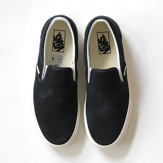 VANS Vintage Suede Slip-On - Blue Graphite/Blanc<img class='new_mark_img2' src='//img.shop-pro.jp/img/new/icons47.gif' style='border:none;display:inline;margin:0px;padding:0px;width:auto;' /> 01