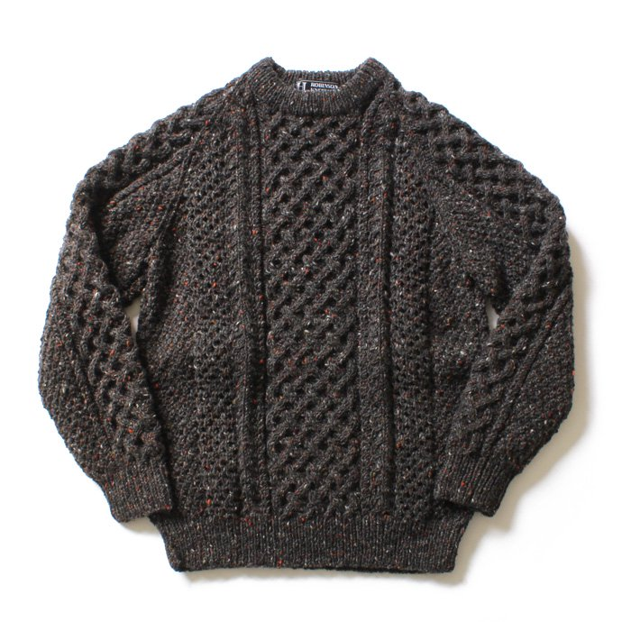 H. ROBINSON KNITTING H. ROBINSON KNITTING / Hand Knitted Cable P/O ハンドニットケーブル編みプルオーバー - Blackpool 01