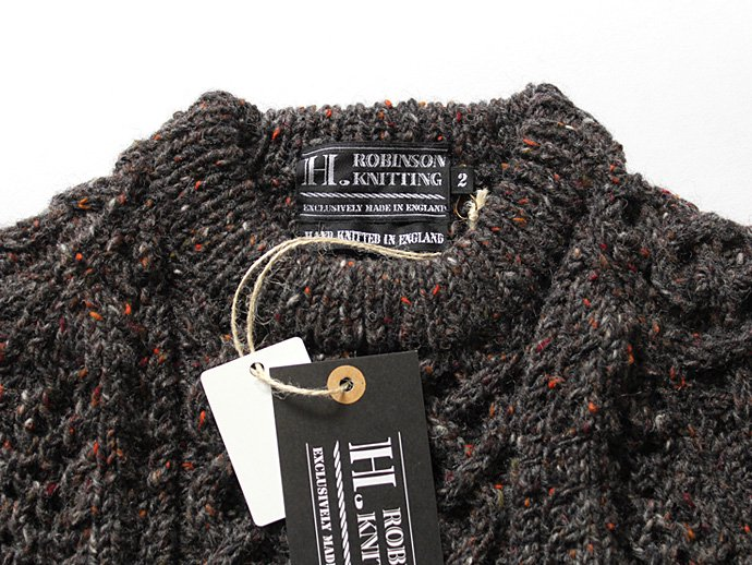 H. ROBINSON KNITTING H. ROBINSON KNITTING / Hand Knitted Cable P/O ハンドニットケーブル編みプルオーバー - Blackpool 02